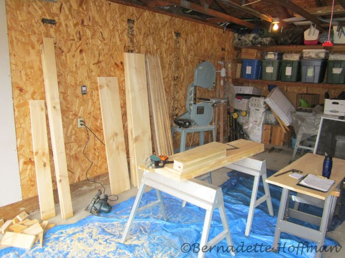 4/22 Purchased wood & began sawing