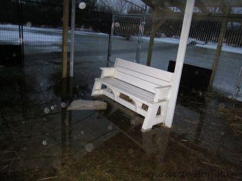 Flooding under the pole barn