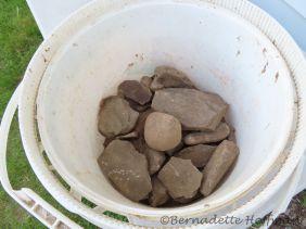 My bucket of stones!